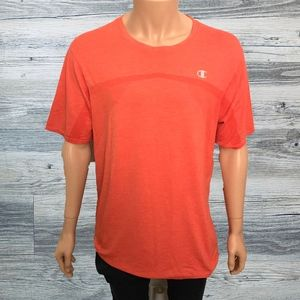 Champion Coral Gym Logo Mesh Powerflex Tee Shirt